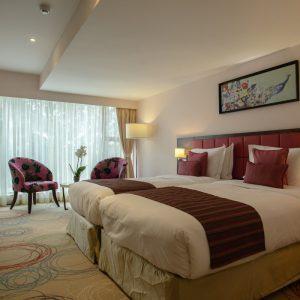 Twin Bed Pink Floor(Superior)